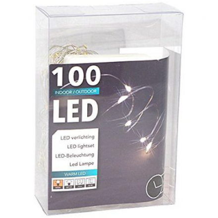 LED  String Chain Lights with 100 Micro LEDs  10mtr length  Plus TIMER for  OUTDOORS
